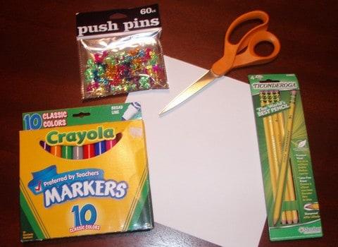 pinwheel craft project supplies