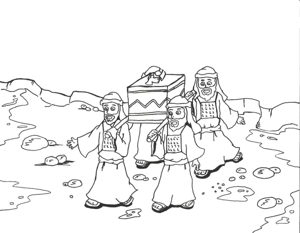 Crossing The Jordan River Coloring Page