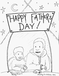 Father's Day Coloring Sheets (with Diversity)