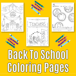Back to School Coloring Pages 2020