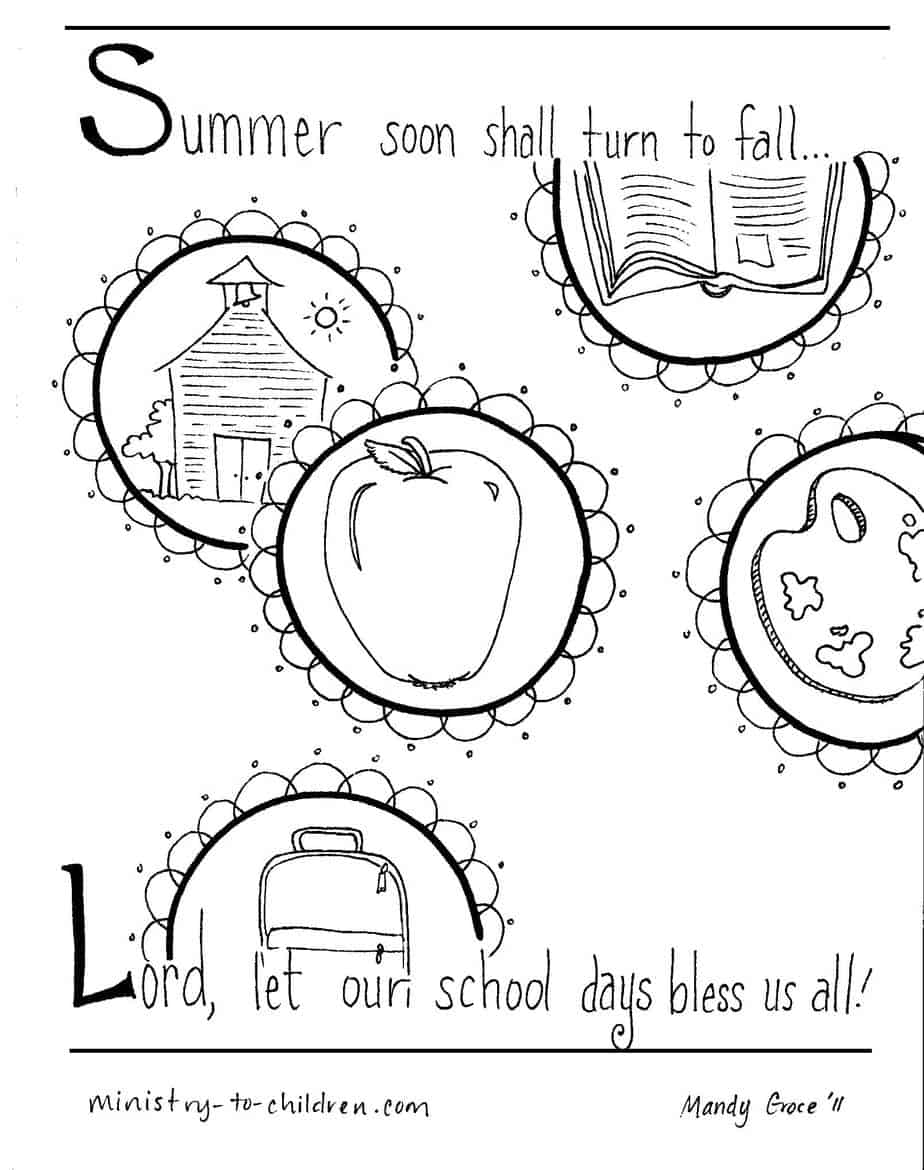 6 Back to School Coloring Pages (Free PDF Printables) for 2019