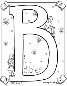 B is for Bible coloring page