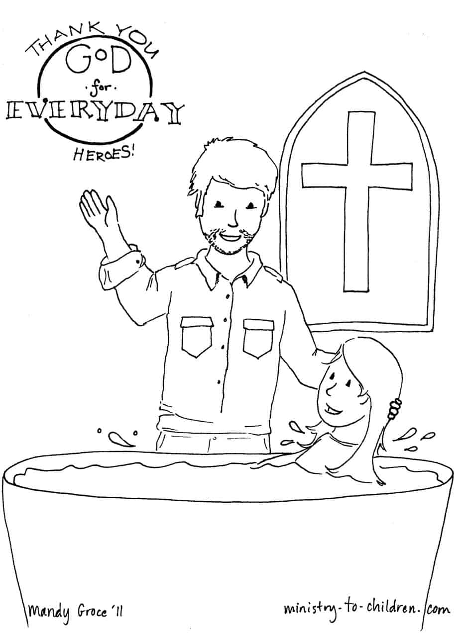 Pastor Coloring Page (Thanking God for Everyday Heroes)