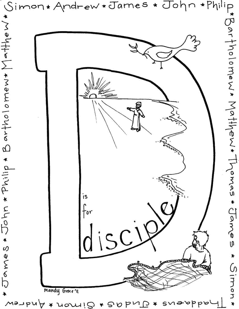 Jesus Sends Out The Disciples Coloring Page Pictures to