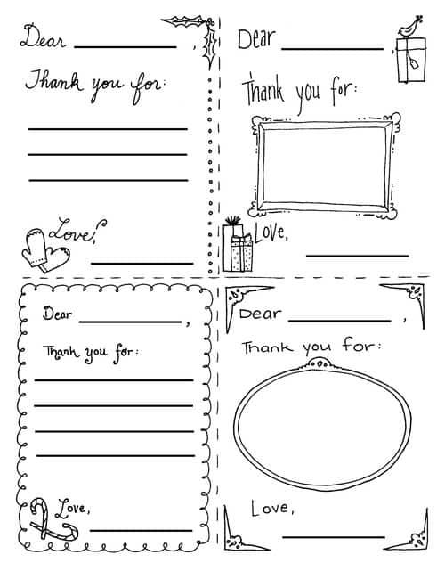 Printable Christmas Thank You Cards For Children Ministry To