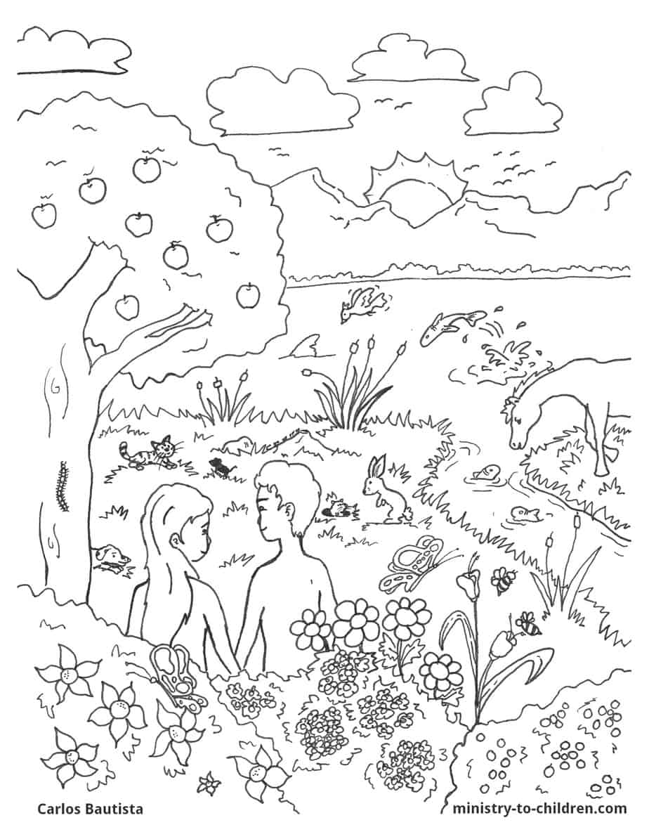 Creation Bible Coloring Page (free download)