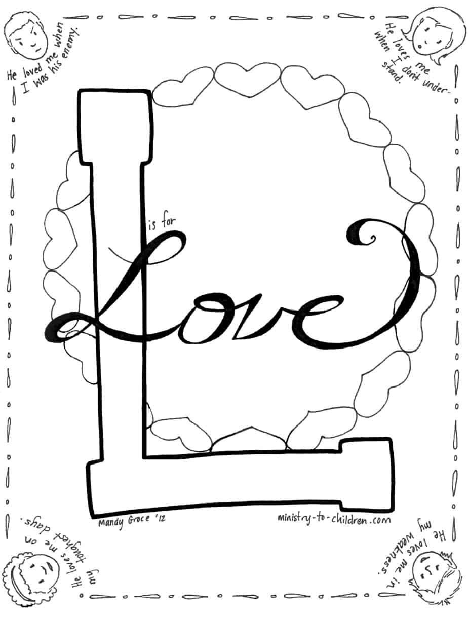 Love Jesus Coloring Page Enemies Coloring Pages