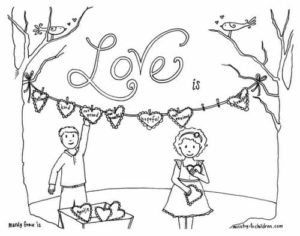 Christian Valentines Day Coloring Pages (6 free sheets)