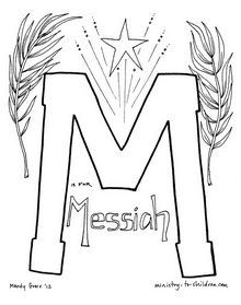 M is for Messiah Coloring Page