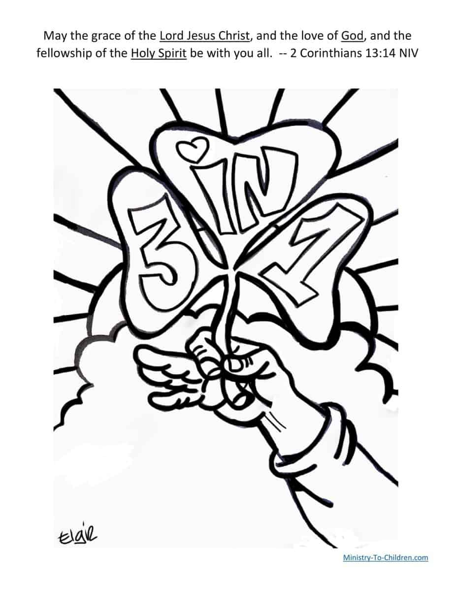 St. Patrick's Day Coloring Pages PDF (Religious