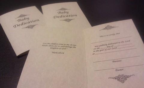 Baby Dedication Certificate Free Printable