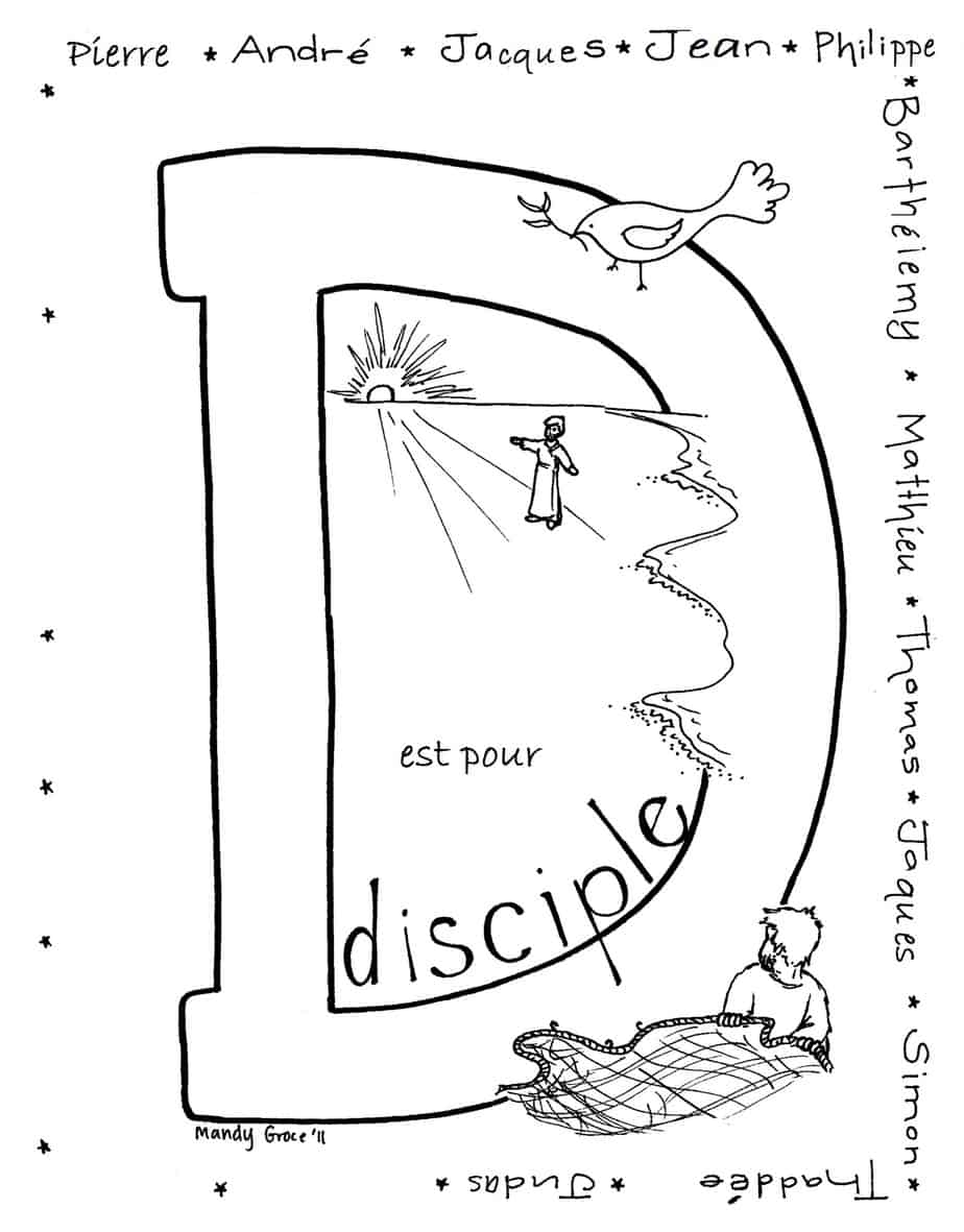 Coloriages de la Bible a Imprimer (Coloring Pages in French)