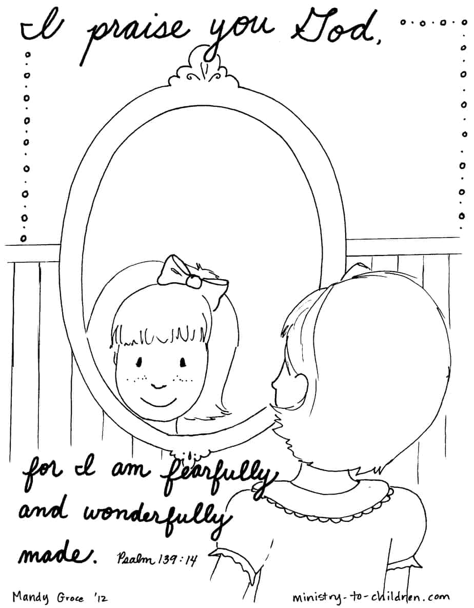 Psalm 139 Bible Coloring Page