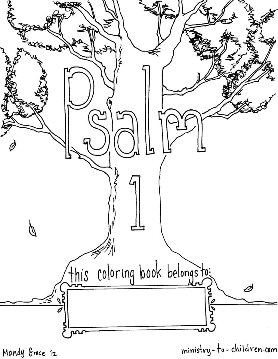 Free Psalm 1 Coloring Book for Children