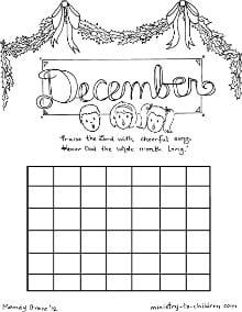 October Coloring Sheet Calendar for Kids