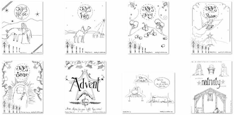 Advent Nativity Coloring Book