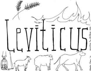 """Leviticus"" Bible Coloring Page"
