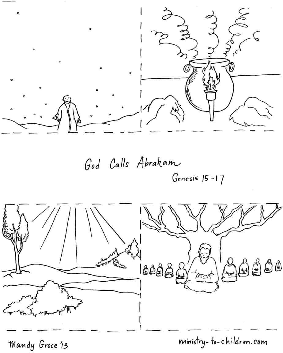 """God Calls Abraham"" Coloring Page"