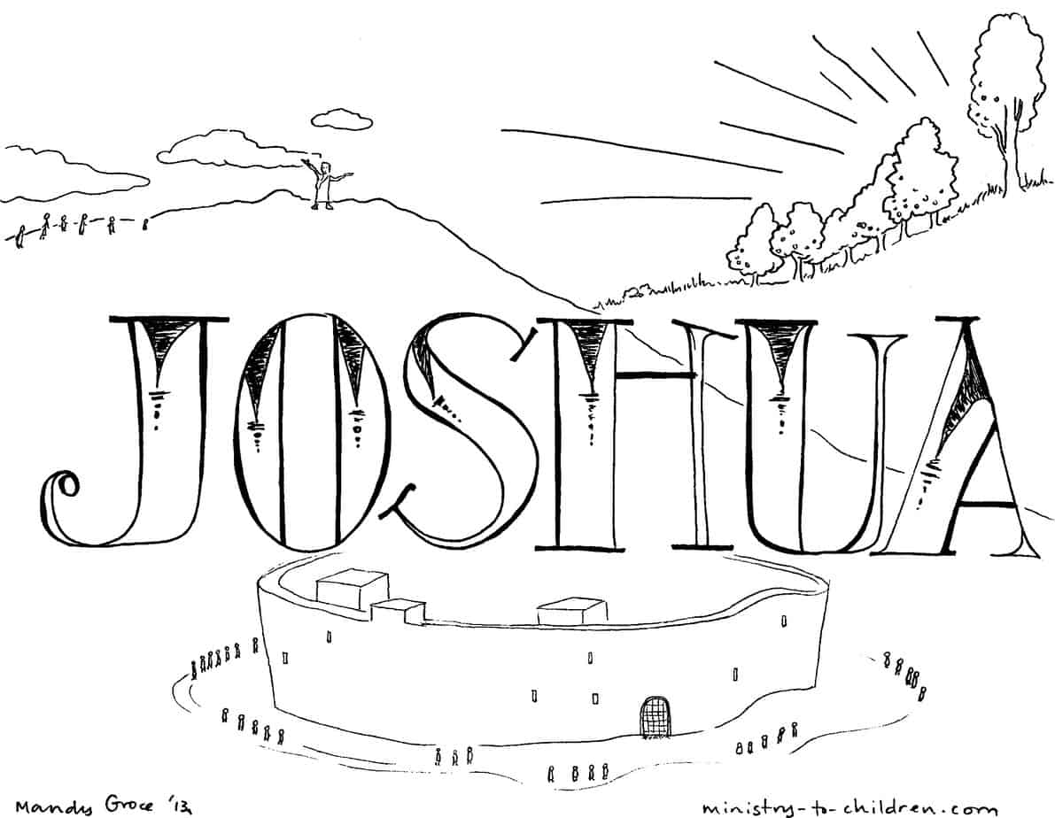 Joshua Bible Story Coloring Page Coloring Pages