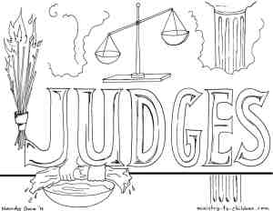 """Judges"" Bible Coloring Page"