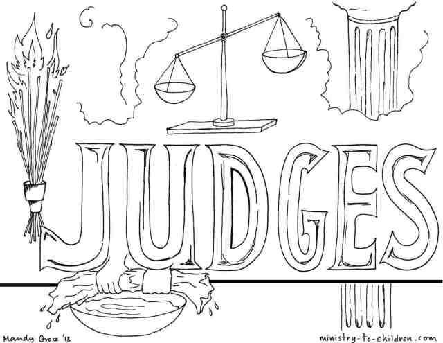 """Book of Judges"""" Bible Coloring Pages"""