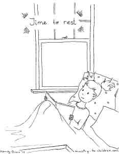 Time to Rest Coloring Page