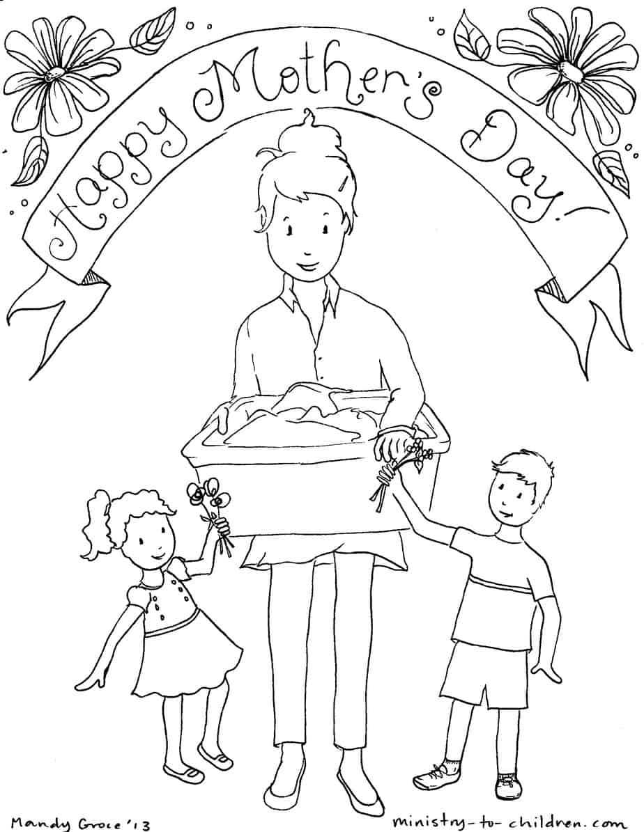5 Mother's Day Coloring Pages [Easy Print] Ministry-To