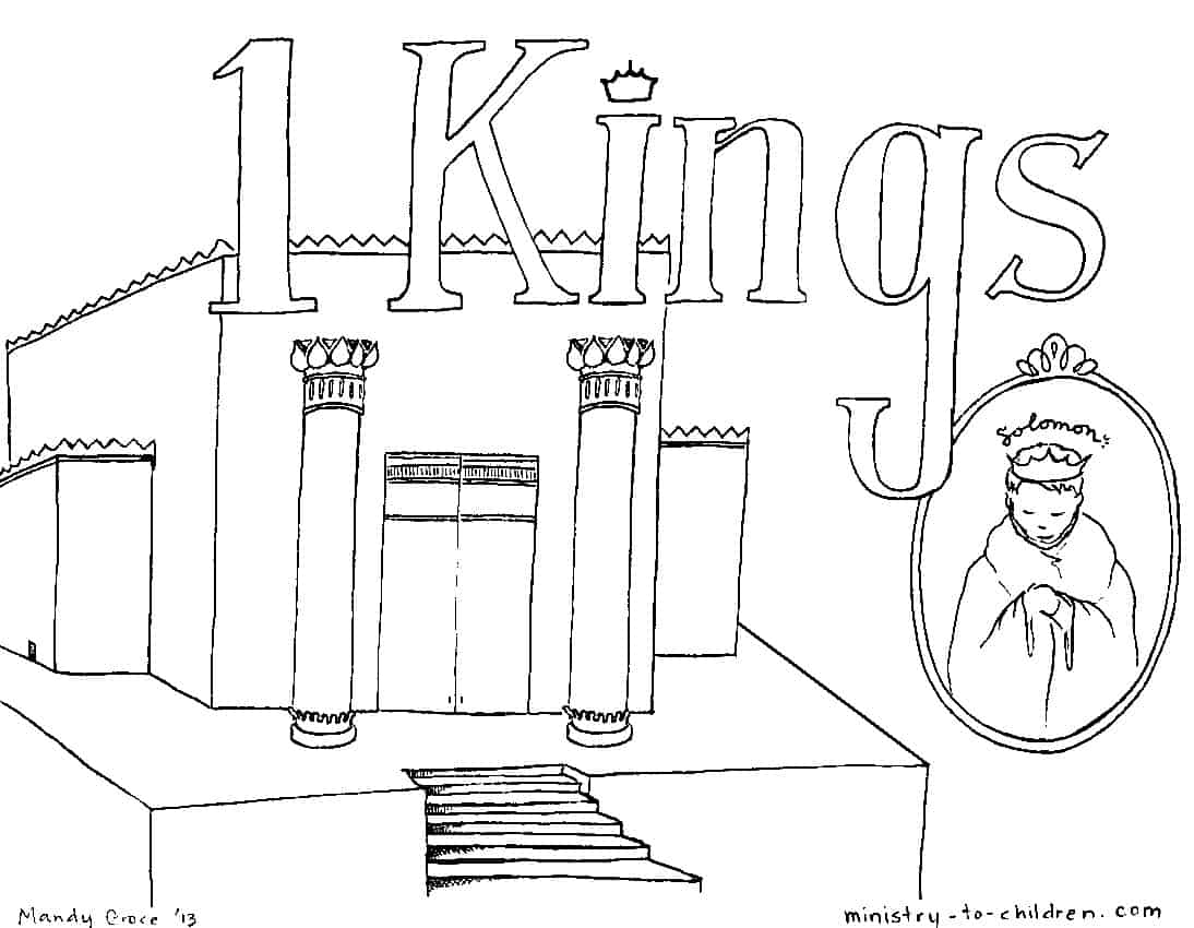 Book Of 1 Kings Bible Coloring Page