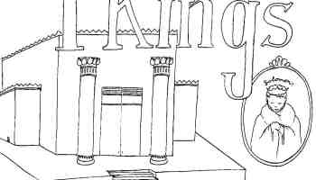 1 kings bible coloring page