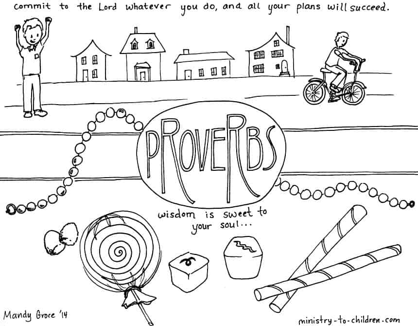 """""""Proverbs"""" Bible Coloring Page"""