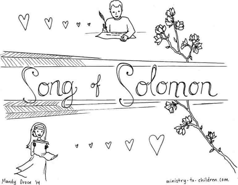 """""""Song of Solomon"""" Bible Book Coloring Page"""