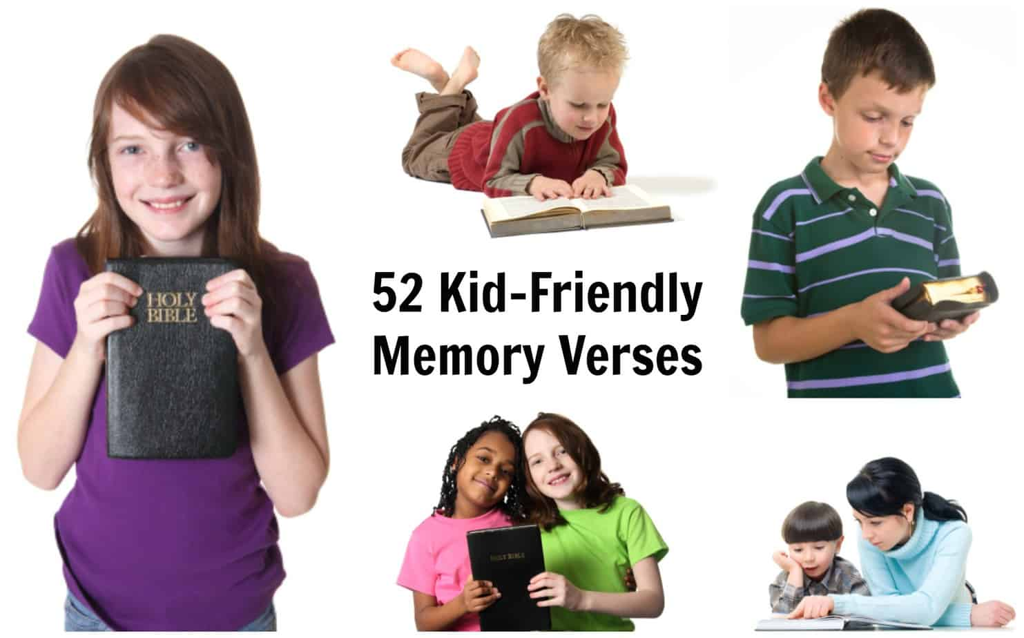 52 Bible Verses For Kids To Memorize
