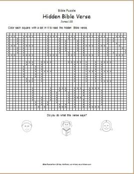 Bible Puzzle: Hidden Bible Verse - James 1:22