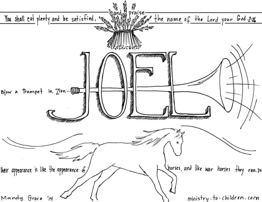 Joel Bible Coloring Page