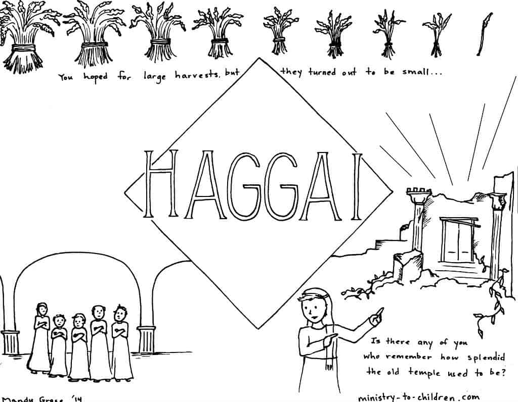 Haggai Bible Coloring Page