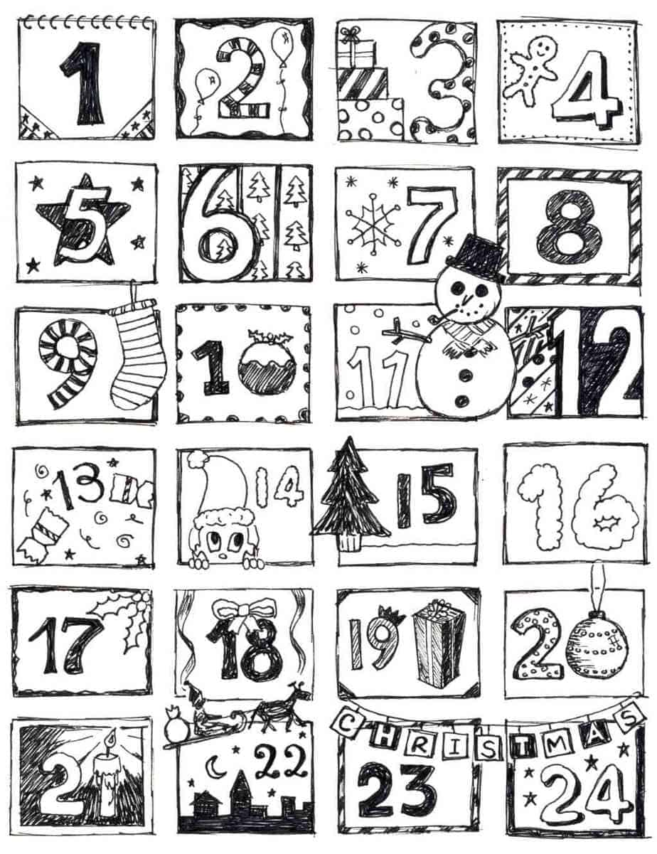 Christmas Coloring Pages for Kids (100% FREE) Easy