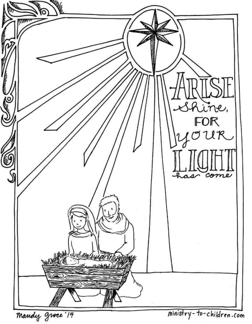 Printable Christmas Nativity Coloring Pages