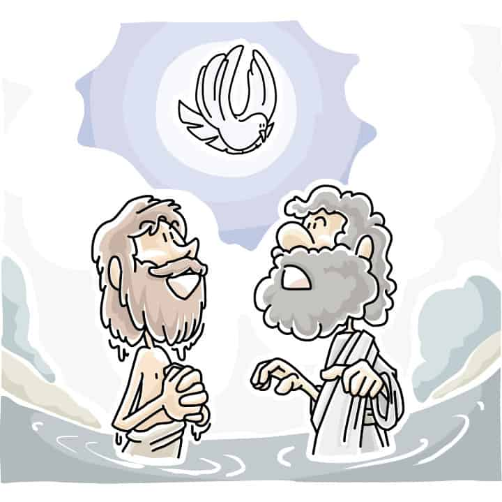 """Two Kinds of Baptism"" Sunday School Lessons from Luke 3:15-17, 21-22, and Acts 8:14-17"