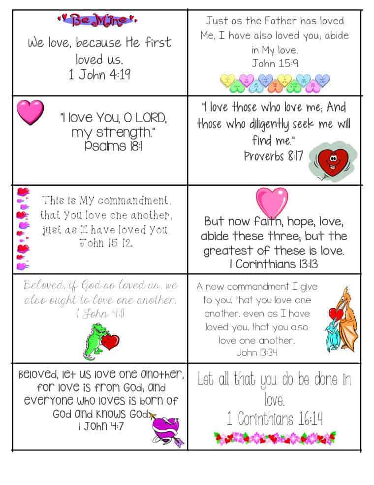 Printable Bible Verses Valentine's Card