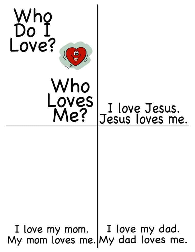 """""""Who do I Love? Who loves me?"""" Early reading booklet for Valentine's Day"""