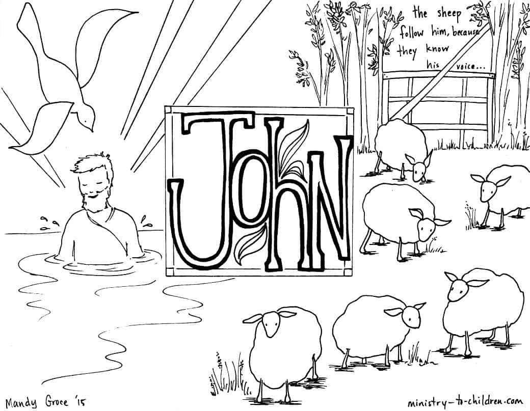 Gospel of John - Free Bible Coloring Pages