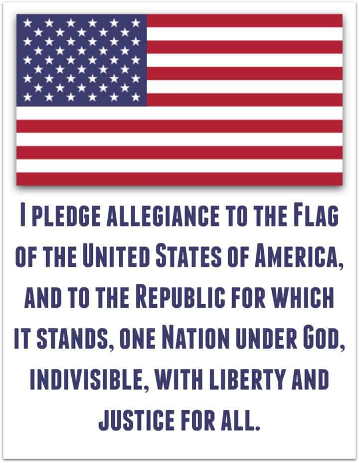The Pledge Of Allegiance To The American Flag Printable Pdf Full