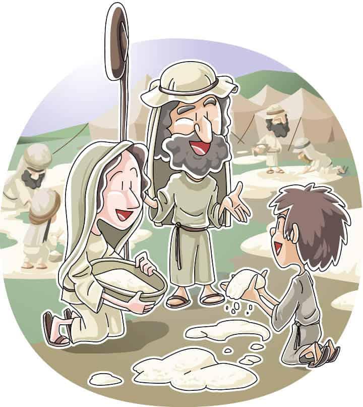God Provides for the Israelites in the Desert (Exodus 16-17) Sunday School Lesson