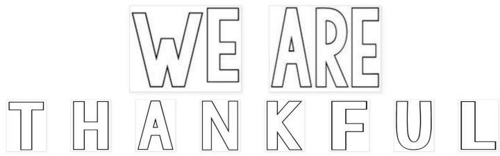 "Printable ""WE ARE THANKFUL"" Bulletin Board"