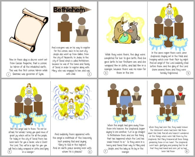 the christmas story luke 2 1 20 printable booklet ministry to