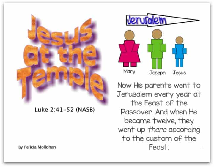 Jesus at the Temple - Printable Bible Story Booklet for Early Readers
