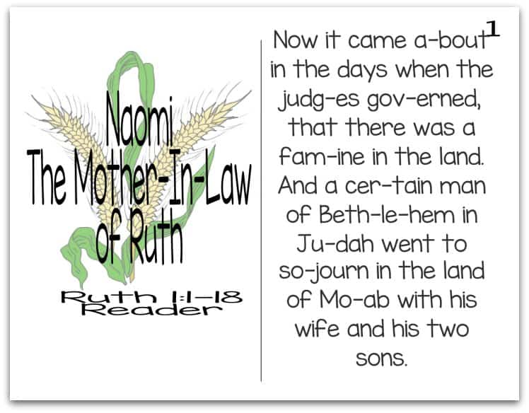 Story of Naomi Reader (Mothers of the Bible Part 6 of 9)