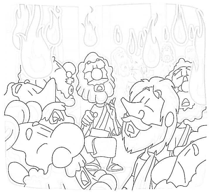 Pentecost Sunday Coloring Pages