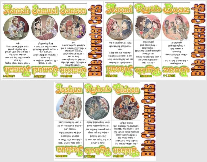 Free Bible Trading Cards -  Old Testament Part 2 of 3