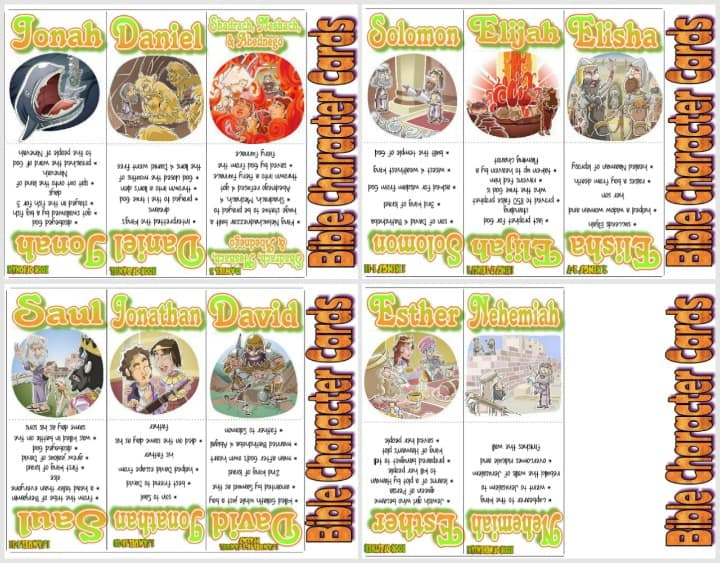 Bible People Cards - Old Testament Part 3 of 3